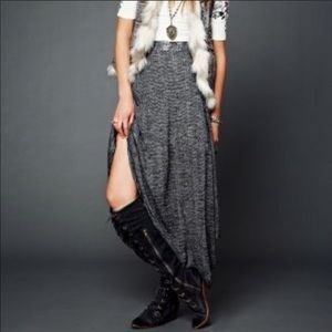 Free People Starry Eye Grunge Punk Rock Maxi Skirt